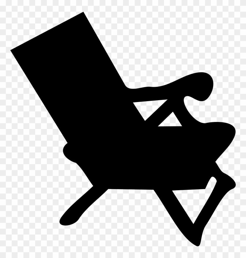 Beach Chair Silhouette Clip Art - Beach Chair Clip Art #192108