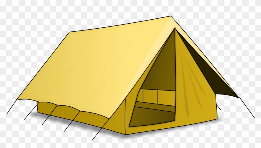 This Free Clip Arts Design Of Tente Vector Home - Camping Tent Shower Curtain #192149