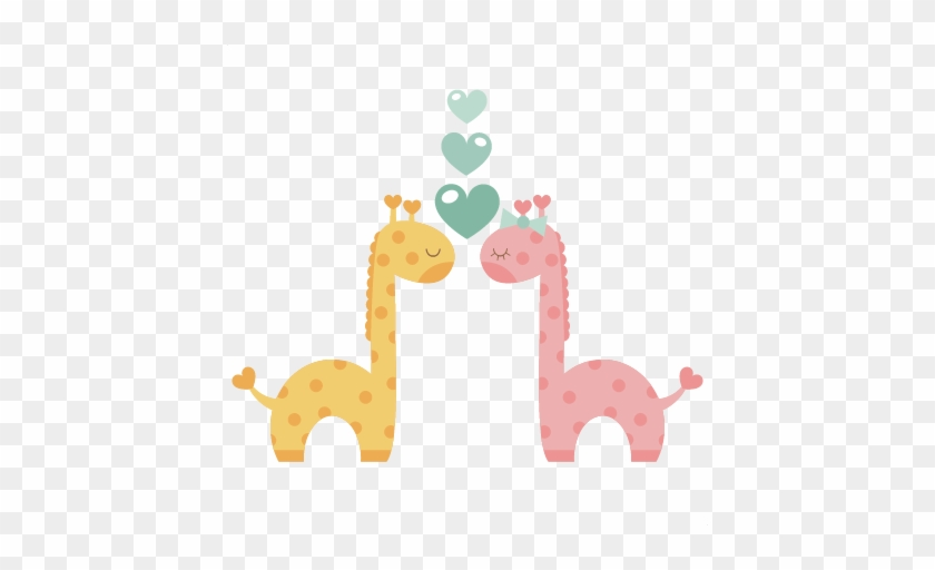 Giraffes In Love Svg Scrapbook Cut File Cute Clipart - Scalable Vector Graphics #192204
