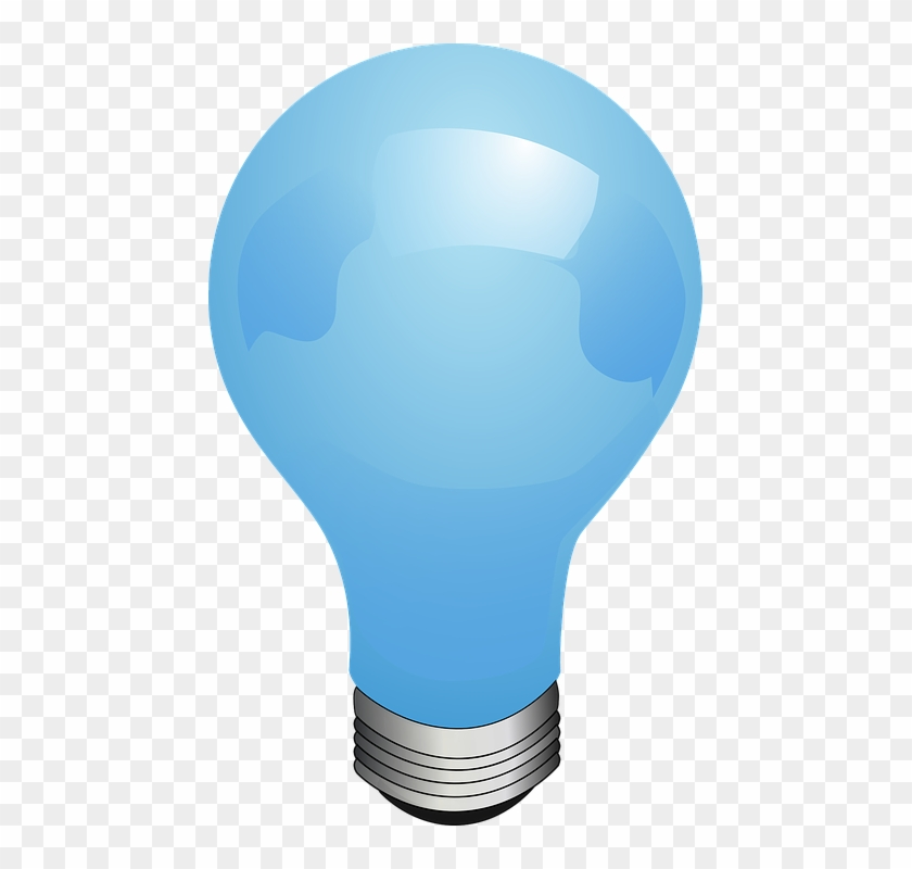 Electricity Clipart Electric Bulb - Blue Light Bulb Vector #192302