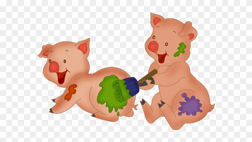 Farm Animals Clipart Piggy - Cute Pig Clipart Png #192757