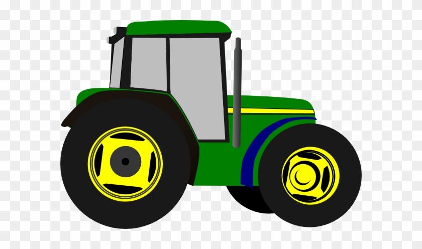 Green Tractor Clip Art At Clker - Tractor Cartoon - Free ...