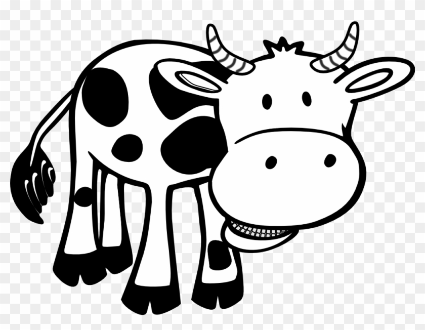 Cow Black White Line Hunky Dory Svg Colouringbook - Love Cows: Blank Lined Journal - 6x9 - Animal Lover #192790