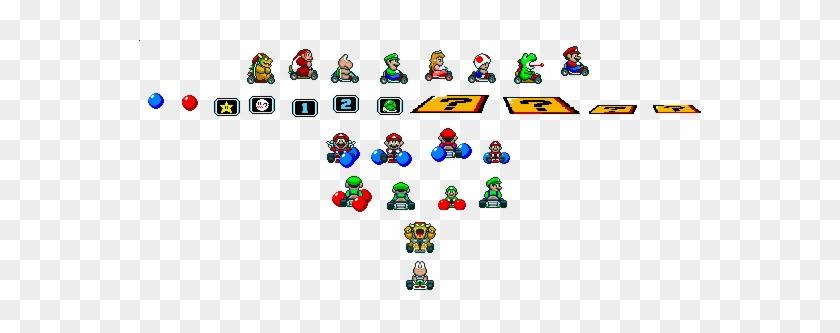 Super Mario Kart Sprite Sheets Snes Mario Universe - Super