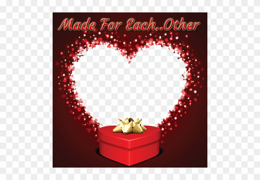 Create Made For Each Other Heart Photo Frame Online - Valentine's Day Gift Cards #1145131