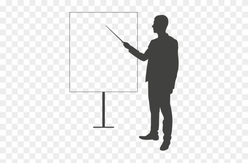 Businessman Pointing Presentation Board Transparent - Png Photo For Business Presentation #1145452
