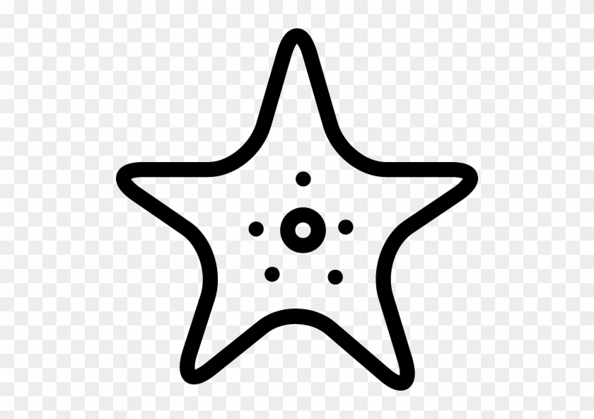 Starfish Icon - Outline Star Fish Png #1146176
