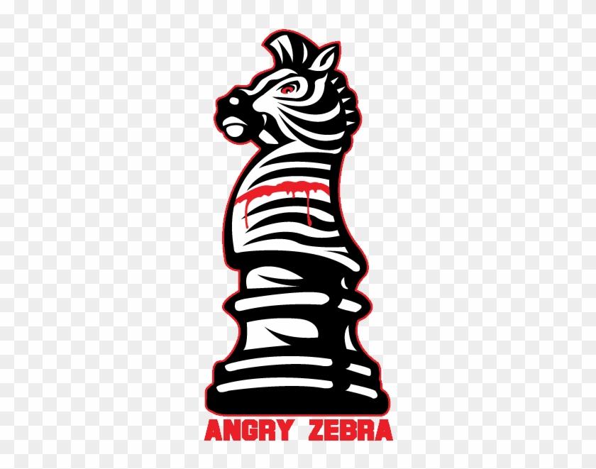 Angry Zebra Chess Piece Logo - Chess Knight #1147459