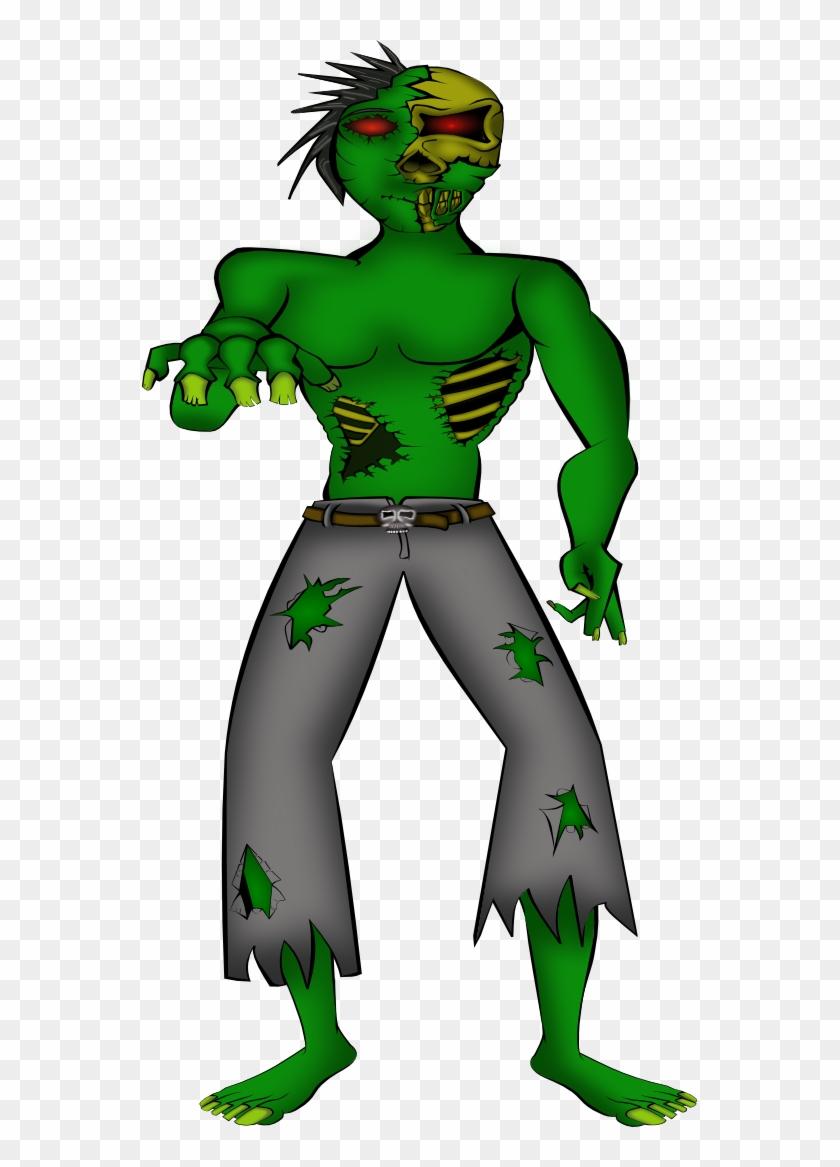 A Zombie Male Elijah Portnoy Halloween 555px - Scary Clip Art Monster #1147786
