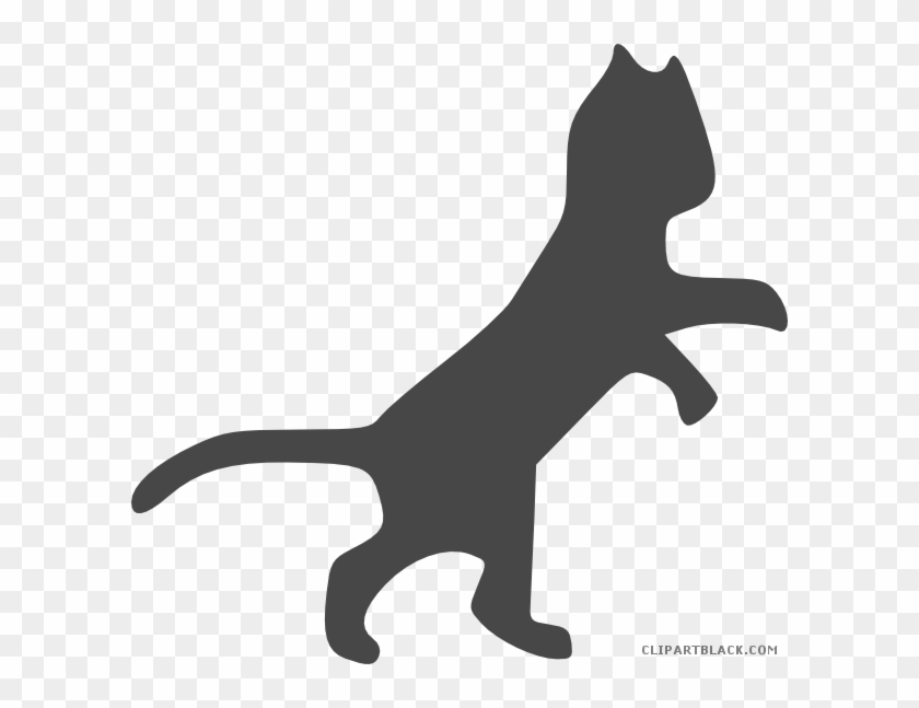 Grayscale Cat Animal Free Black White Clipart Images - Dancing Cat Clip Art #1147923