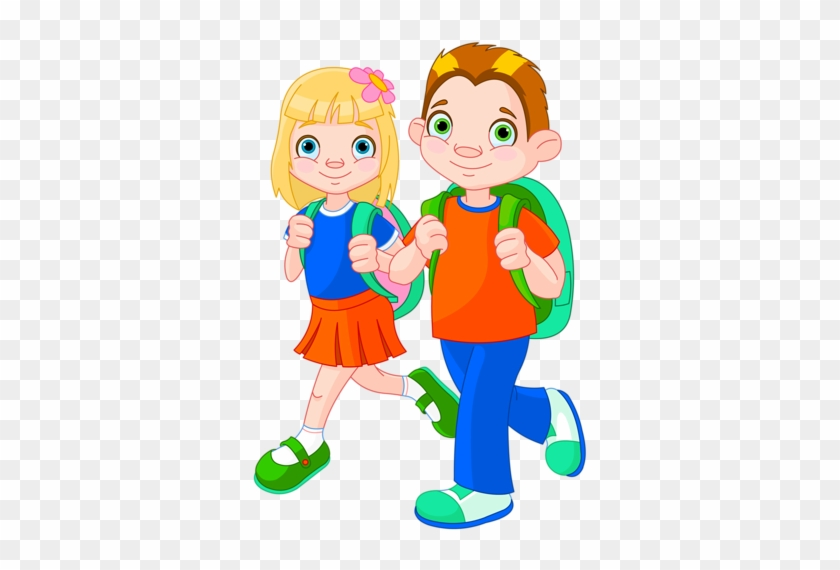 Content - Boy And Girl Going To School #1148797