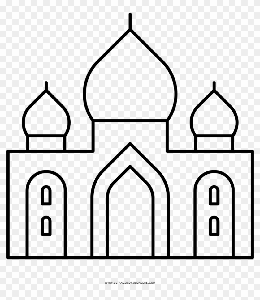 Taj Mahal Coloring Page - El Taj Mahal Dibujo - Free Transparent PNG ...