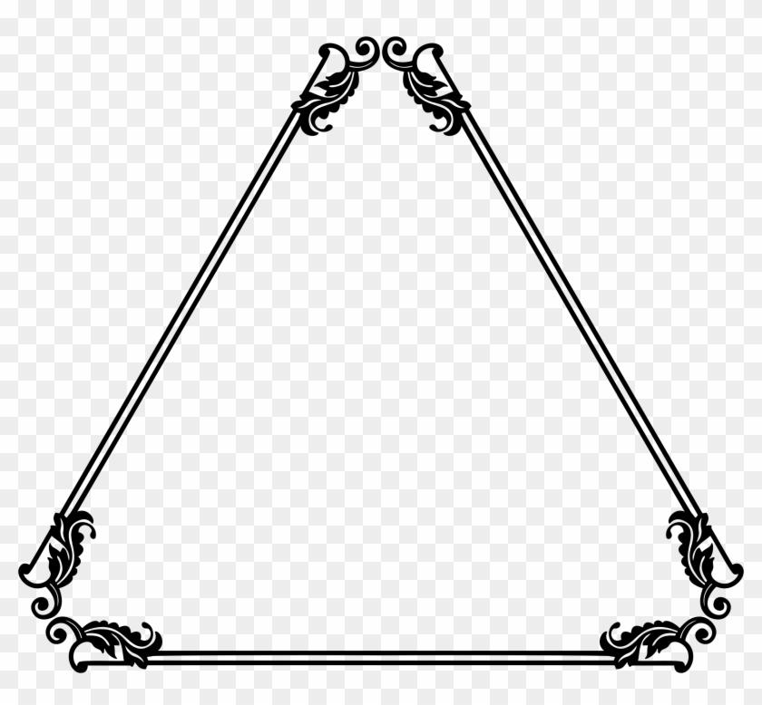 Decorative Ornamental Flourish Frame Extrapolated 8 - Triangle Frame ...