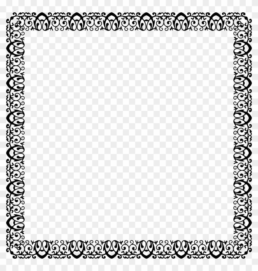 Decorative Ornamental Frame - Black And White Page Borders Printable ...