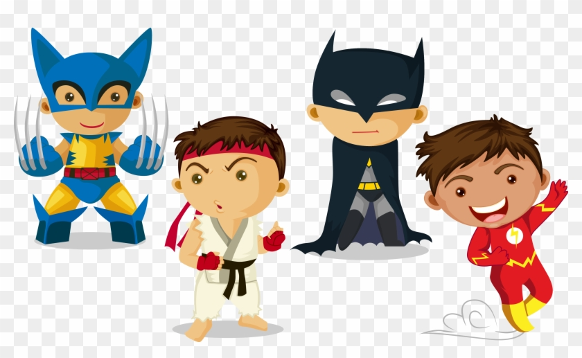 Clark Kent Superhero Child - Super Hero Kids Vector #1149892