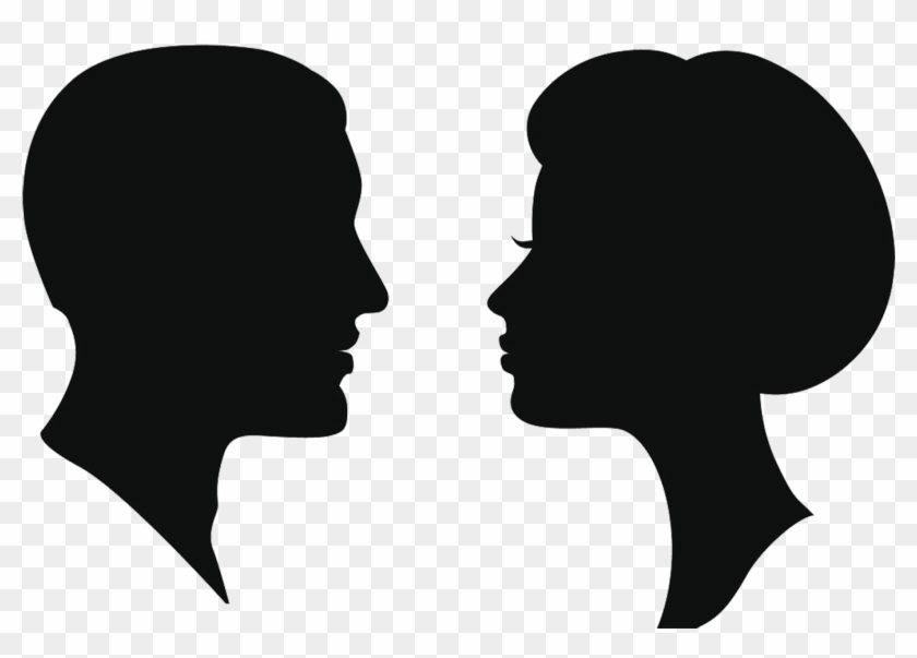Silhouette Female Man Clip Art - Two Sides Of The Same Coin #1150991
