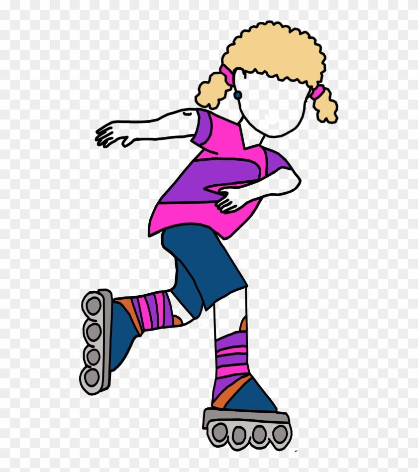 Roller Skating Birthday Party Invitation - Inline Skates #1151414