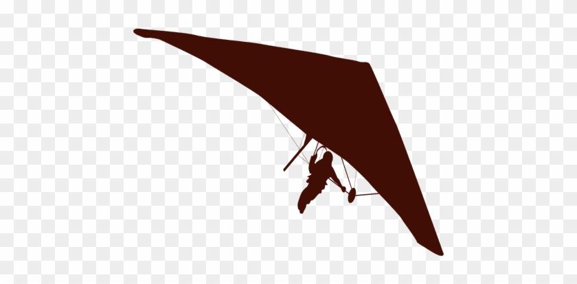 Hang Gliding Flight Silhouette - Siluetas Ala Delta Png