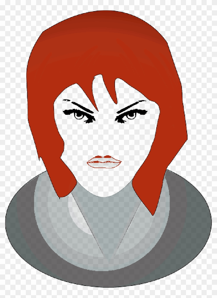 people, woman, girl, angry, face, tomas - smiley femme fatale face 1