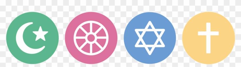 World Religion Map - Coexist Religious Symbols #1153830