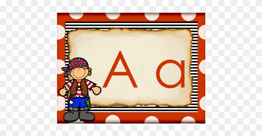 Pirate Theme Word Wall Headers Alphabet Cards