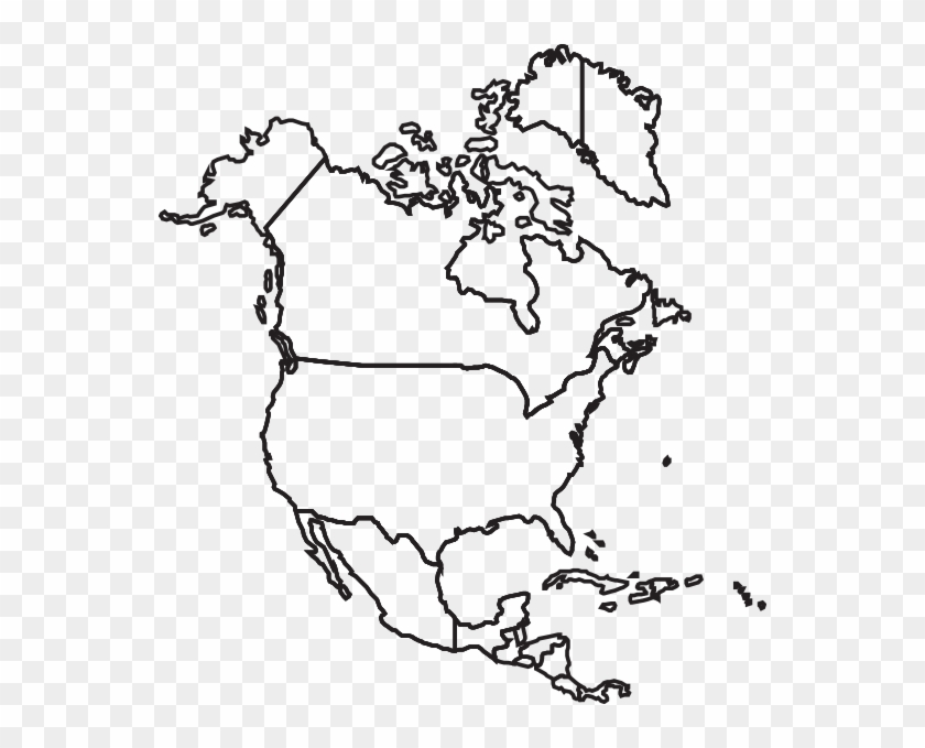north america map clip art at clker north america map drawing