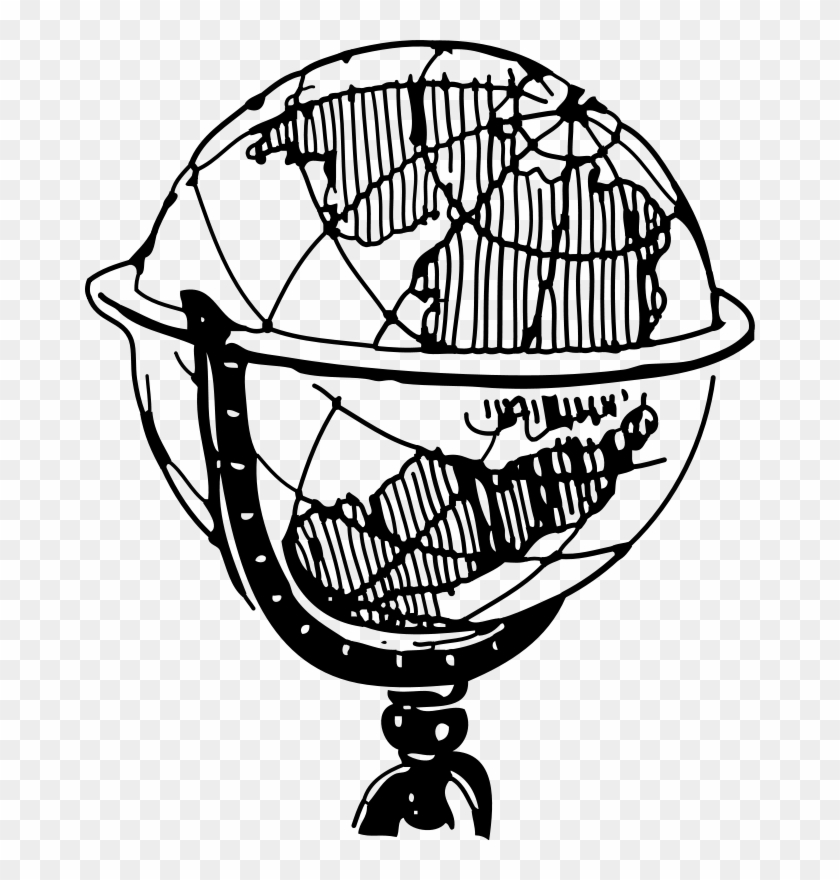 1eb9d89feb Blue World Map Clip Art Download - Black And White Globe Clipart  1154381