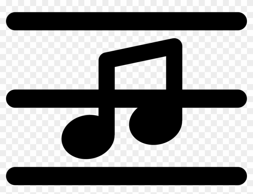 Music Note On A Musical Pentagram Lines Comments - Music Pentagram Icon #1154427