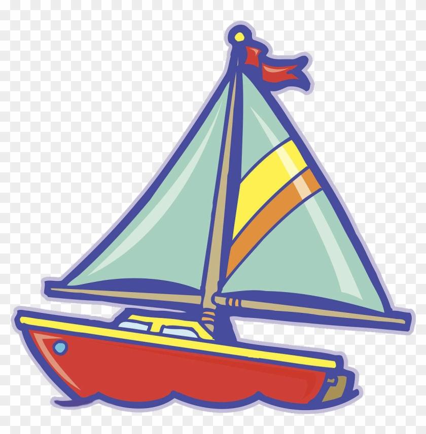 Sailboat Sailing Ship Cartoon - Cartoon Sailing Boat #1154623