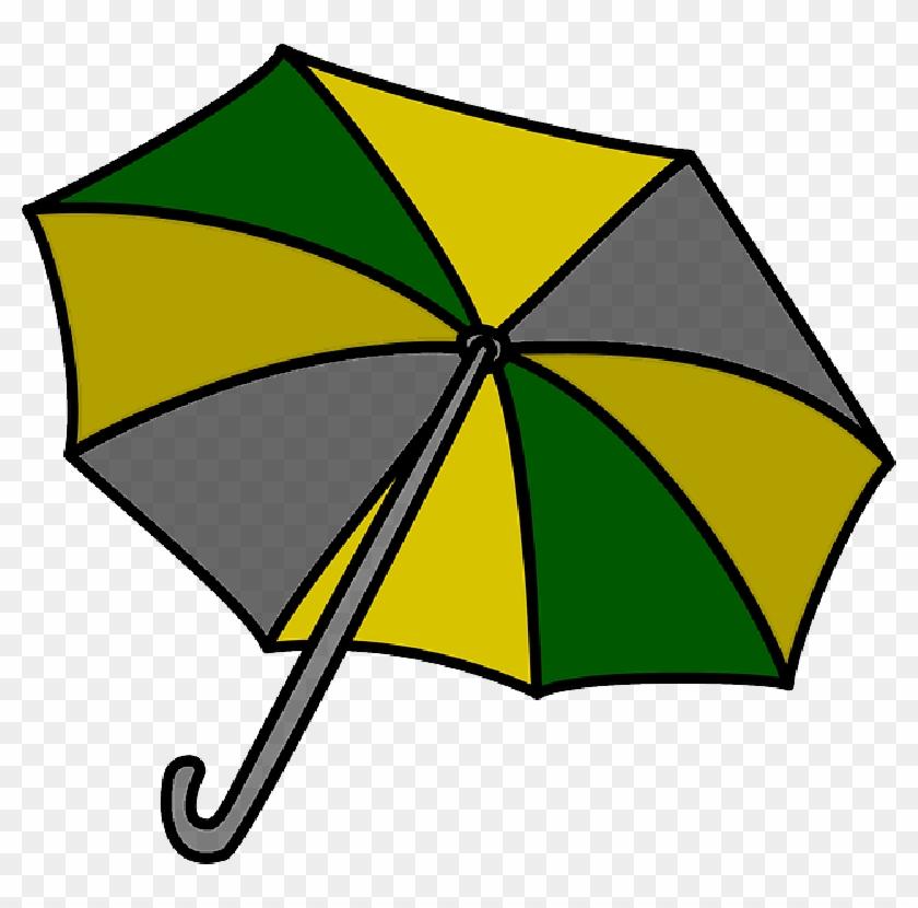 Outline, Umbrella, Drawing, Beach, Sun, Cartoon, Tools - Umbrella Clip Art #1155277
