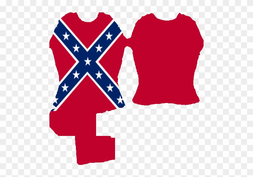 45kib, 512x512, Sl Confederate Flag T-shirt - Confederate Flag With