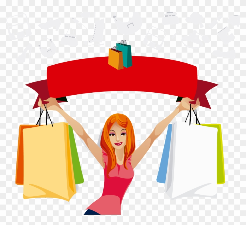 Online Shopping Bag Woman Gift - Shopping Day #1155856