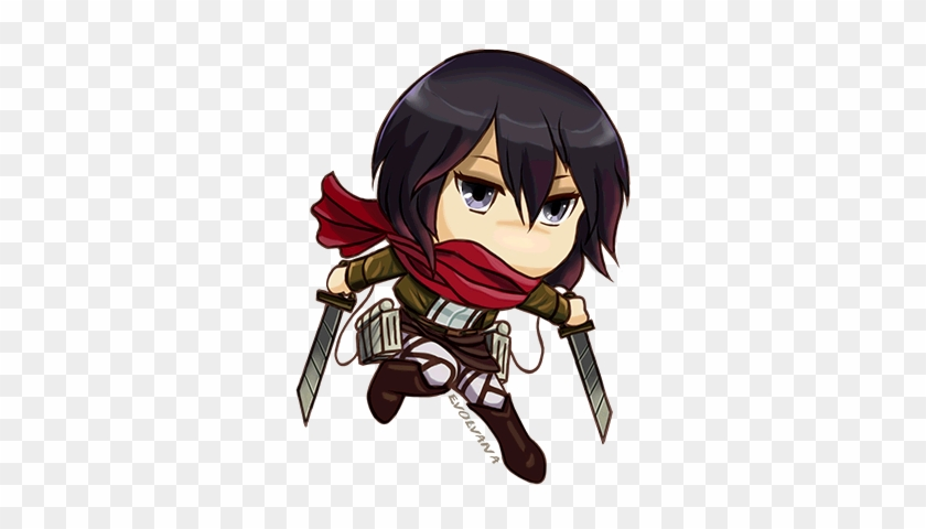 Lovely Attack On Titan Wallpaper Levi Mikasa Chibi Mikasa Ackerman Free Transparent Png Clipart Images Download