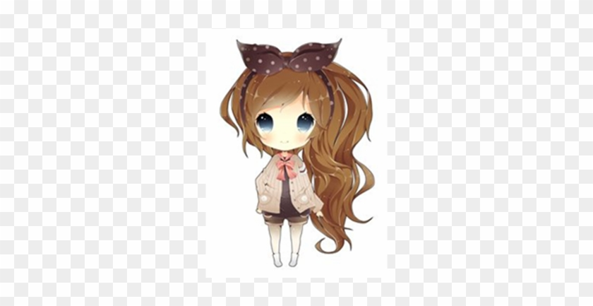 Chibi Wolf Girl Roblox Download Anime Chibi Girl With Brown Hair Free Transparent Png Clipart Images Download