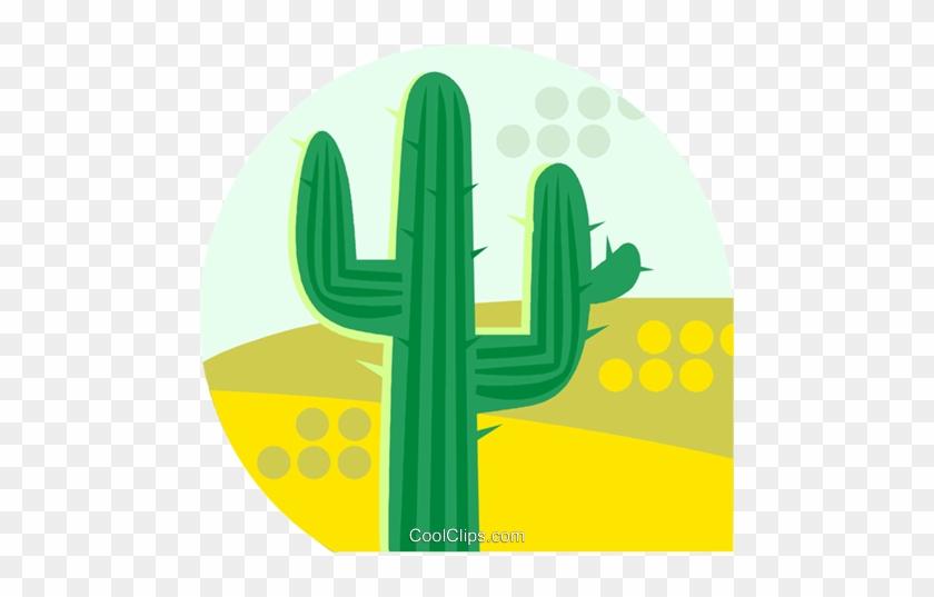 Cactus Growing In The Desert Royalty Free Vector Clip - Hedgehog Cactus #1157361