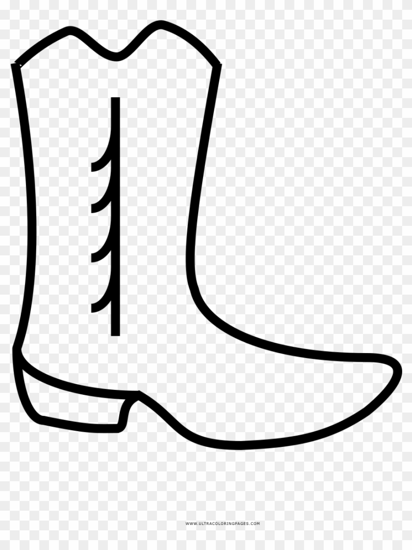 Rodeo Cow Girl Boot Coloring Page | 1120x840
