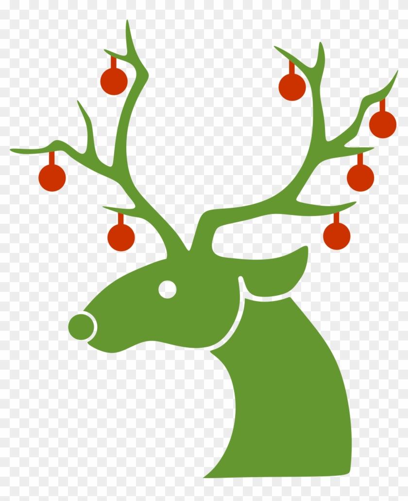 Fat Reindeer Clipart - Reindeer Silhouette Christmas #1157873