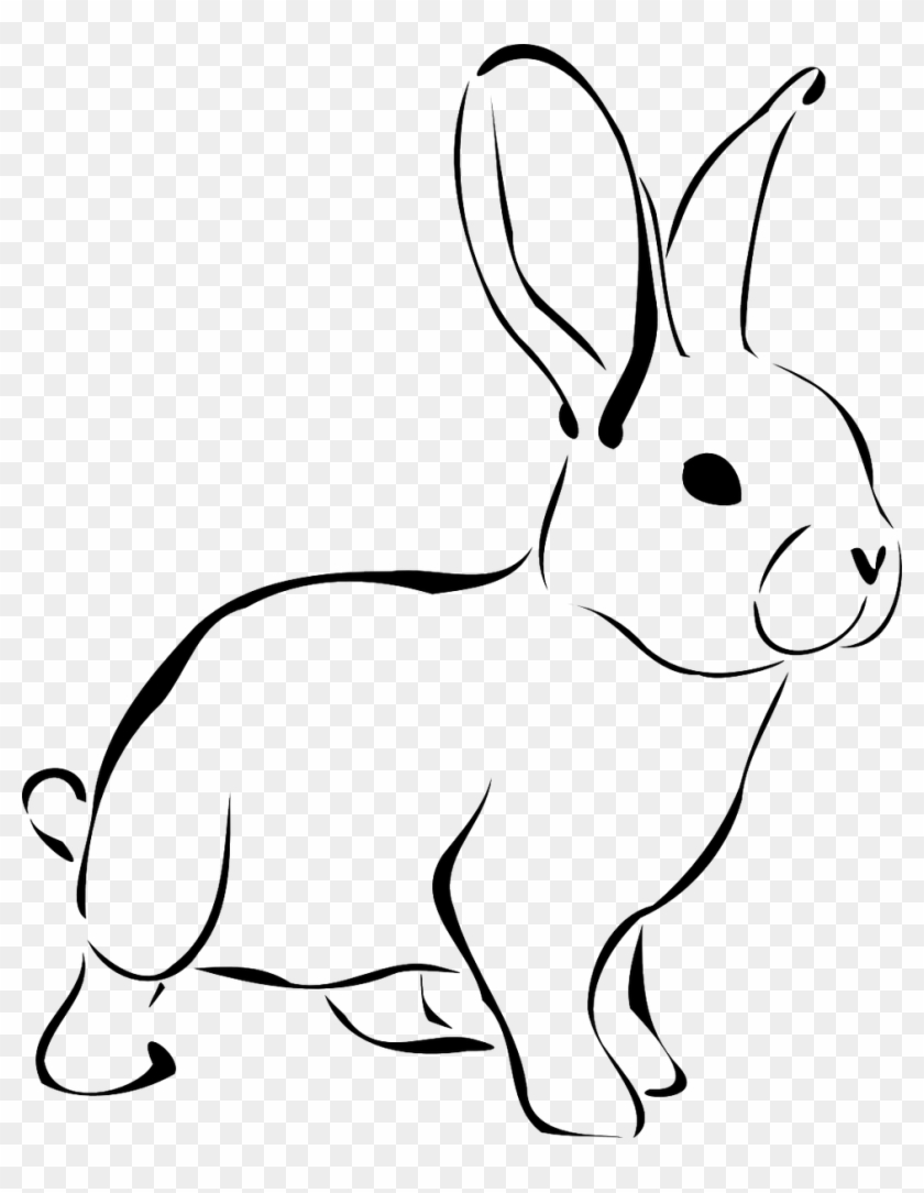 Easter Bunny Rabbit Clip Art Rabbit Clipart Black And White Free