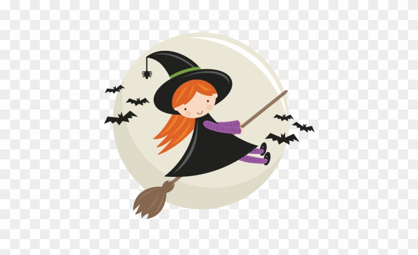 Cute Halloween Witch Clipart - Flying Witch Clipart Png #1158114