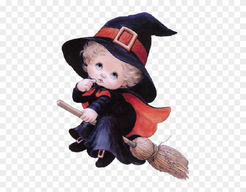 Cute Halloween Baby Witches Cartoon Clip Art Images - Witch Ruth Morehead #1158132
