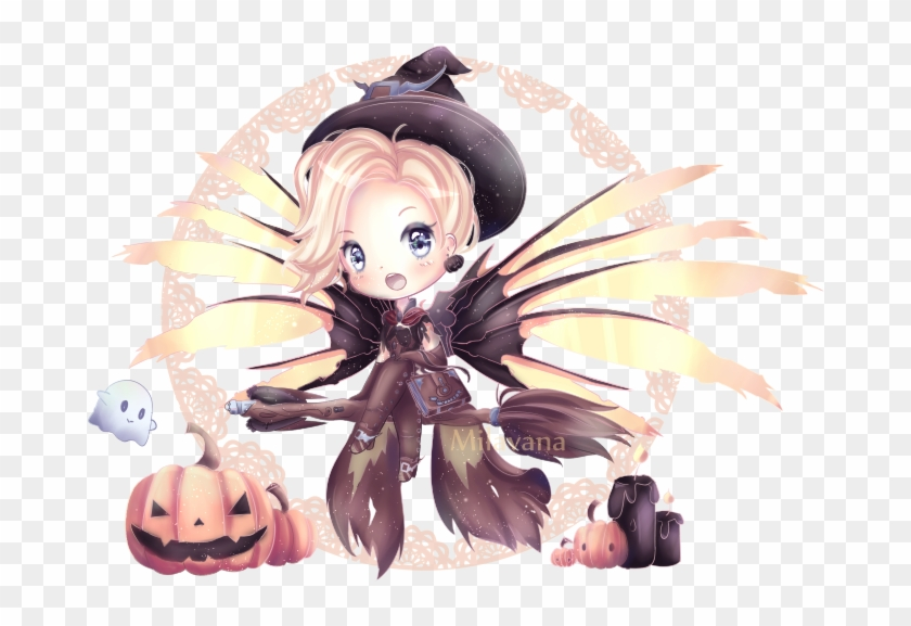 Chibi Chibi Girl Chibi Art Chibi Witch Cute Adorable - Mercy #1158139