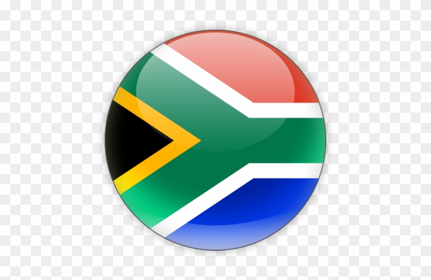South Africa Country Flag Round #1158544