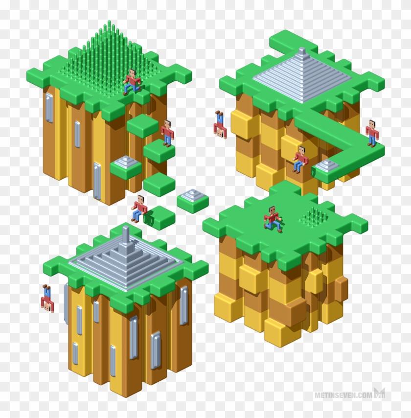 3d Pixel Art On Behance Rh Behance Net 3d Pixel Art 3d With Pixel Art Free Transparent Png Clipart Images Download