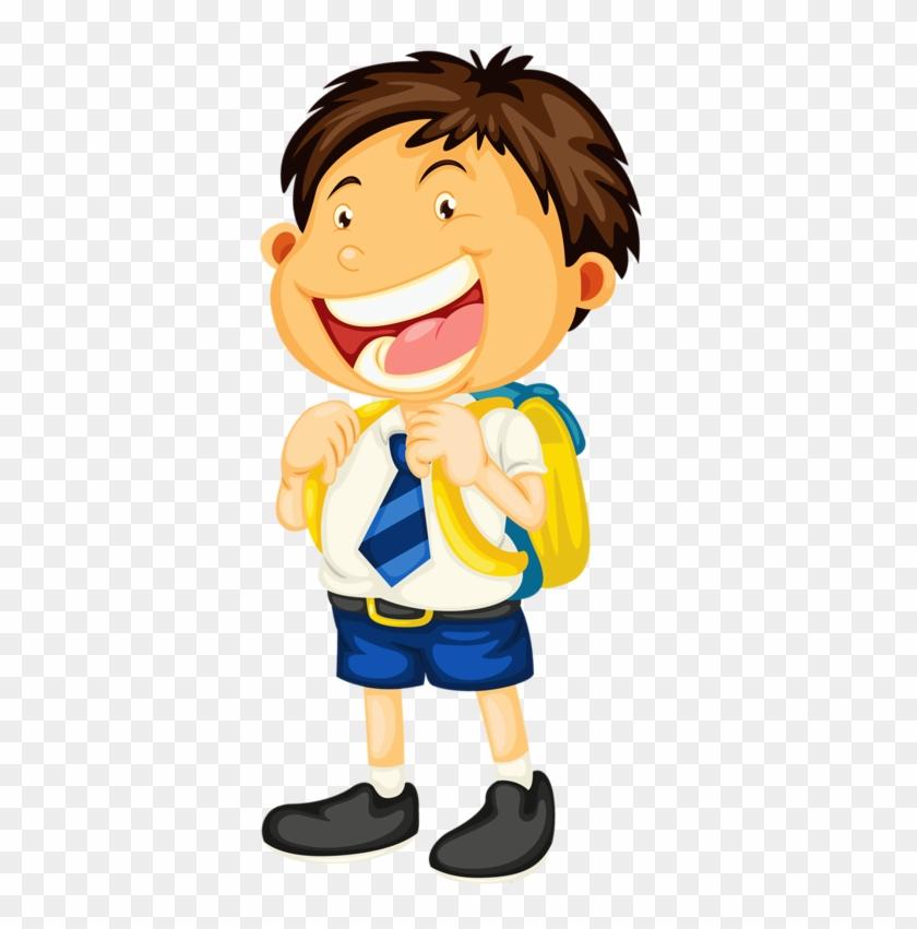 Estudiante Del Uniforme De La Escuela Infantil Clip - Imagenes De Niños Vistiendose Para Ir A La Escuela #1158812