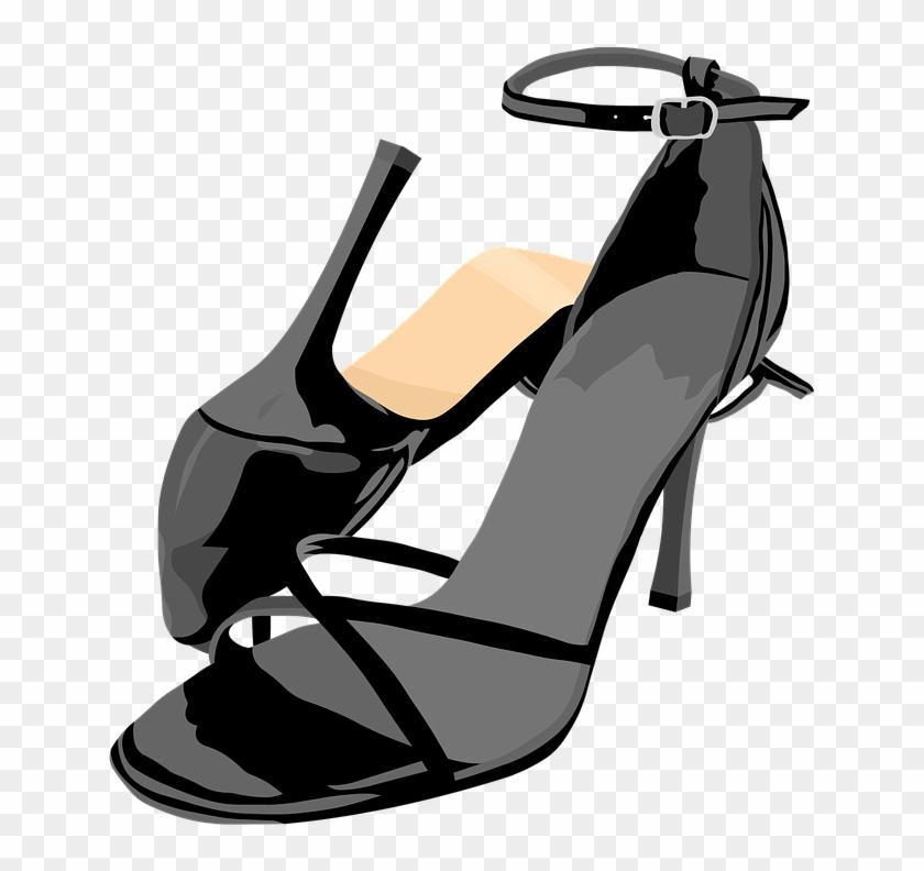 Shoes Sandals High Heels - Dance Shoes Cartoon Png #1158905
