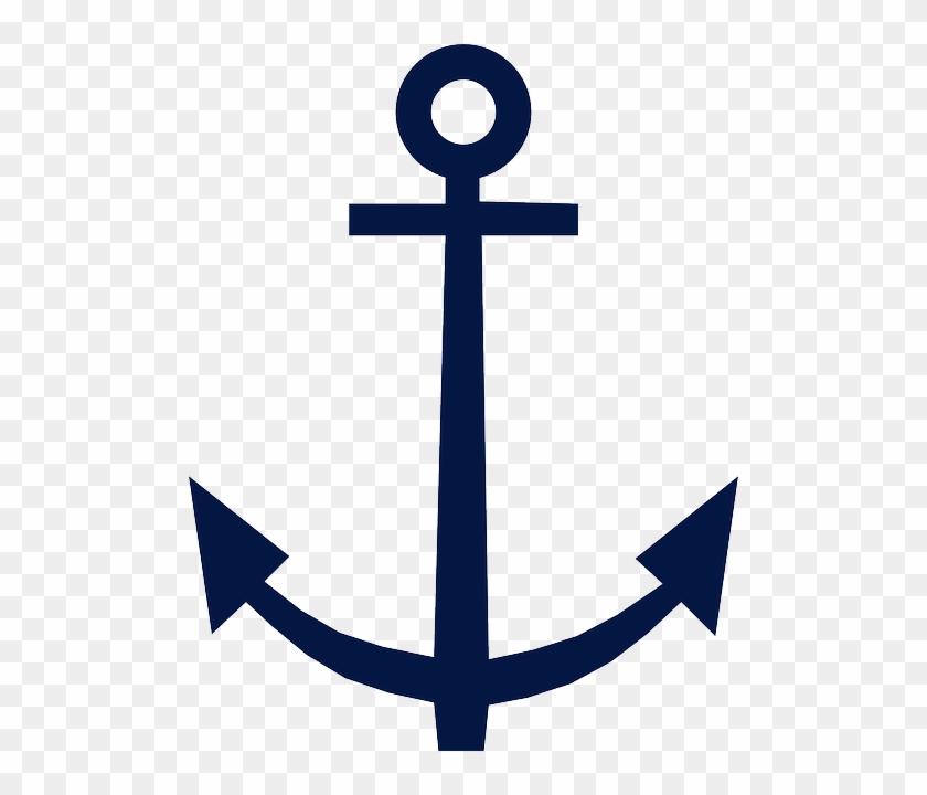 Anchor Blue Symbol Design Nautical Isolated Sign Symbol Of