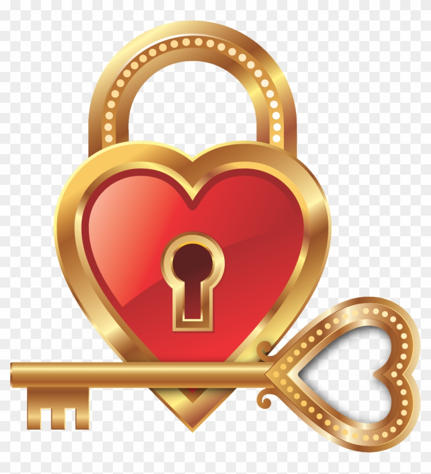 Love Lock Key Heart Clip Art - Heart Lock And Key Emoji #1159471