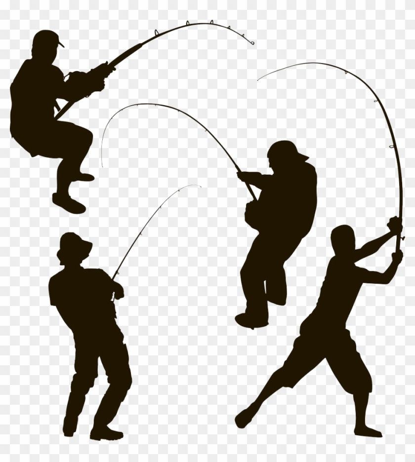 Silhouette Fishing Fisherman Clip Art Fishing Silhouette Free Transparent Png Clipart Images Download