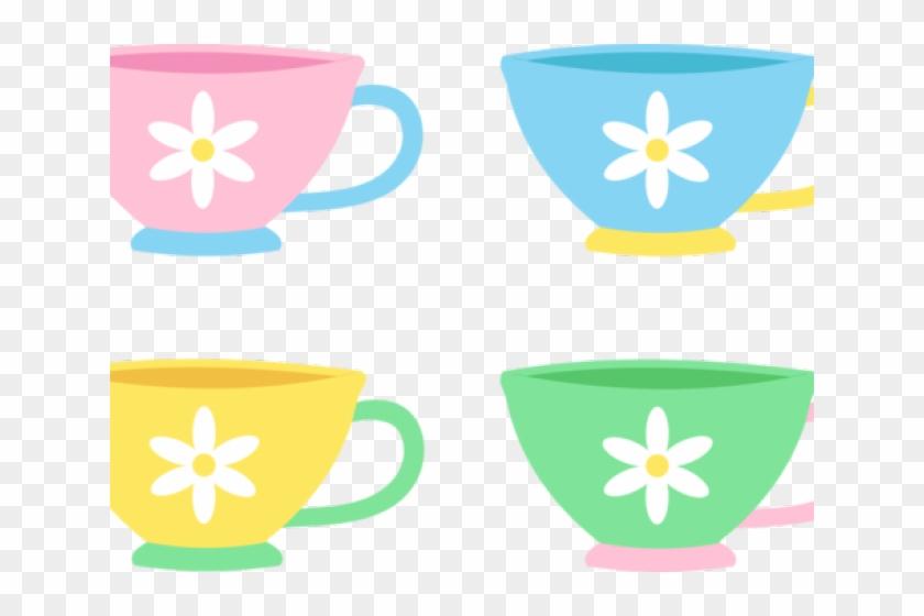 Pastel Clipart Tea Cup - Cute Tea Cup Clipart #1161075