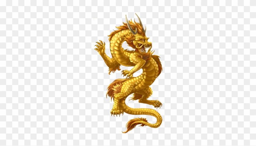 Flying Dragon Transparent Png - Chinese Golden Dragon Tattoo - Free
